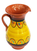 Terracotta Yellow, 1.9l Pitcher - Hand Painted From Spain