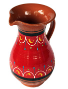 Terracotta Red, 1.9l Pitcher - Hand Painted From Spain