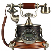HomJo Push Button Telephone Vintage Antique Style Resin metal body Corded Tele phone Home Living Room Decor