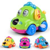 Quietcloud Cute Cartoon Running Car Wind Up Toy Clockwork Classic Baby Toddler Kids Toy