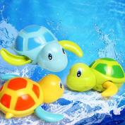 Quietcloud Cute Cartoon Animal Tortoise Swim Wind-up Chain Clockwork Kid Bathing Toy