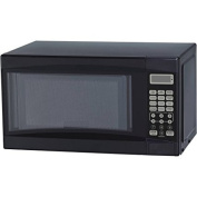 Mainstays 0.02cbm Microwave Oven, Black, Time Cook, Time Defrost, Weight Defrost, LED Display, Kitchen Timer