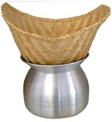 Set Sticky Rice Steamer Pot and Basket Cook Kitchen Cookware Tool