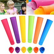 Vibola 6PSC Silicone Push Up Frozen Stick Ice Cream Pop Yoghurt Jelly Lolly Maker Mould