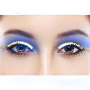 LED Eyelashes Sound Control Waterproof Shining False Lashes Eyeliner for Party, Concert, Raves or Halloween Cosplay