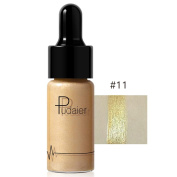 Women High Light Liquid, Lotus.flower 12 Colours Highlighter Make Up Concealer Shimmer Face Glow Cream