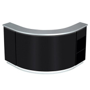 BEAUTY SALON LED ILLUMINATED CURVED RECEPTION DESK RECEPTION AREA COUNTER - JANUS-BS