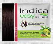 3 Pc Indica Easy10 Minutes Herbal Hair Colour Shampoo Base Burgundy Herbs