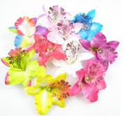 Vellhater 4Pcs Fashion Flower Orchid Shape Hair Clip Hairpin Hair Ornaments