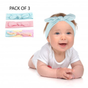 Lux Accessories Rainbow Baby Girl Infant Hair Accessories Headband Set 3PC