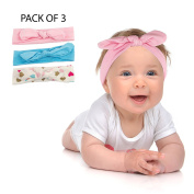 Lux Accessories Heart Knotted Baby Girl Infant Hair Accessories Headband Set 3PC