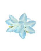 Baby Blue Lily on Concord Clip & Brooch Pin