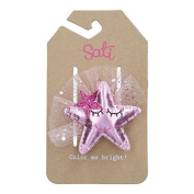 Sati Into The Sky with Pink Star Hair Clips for Girls