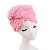 PETMALL Womens Girls Lady's Magic Quick Dry Bath Hair Drying Towel Head Wrap Hat Makeup Cosmetics Cap Bathing Tool OFFICE-825