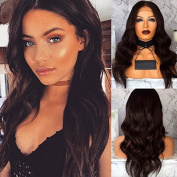 RIJIA Chocolate Brown Wigs Body Wave Lace front wigs Glueless Brazilian Virgin Hair Body Wave Full Lace Human hair wig With Baby Hair Bleach Knots
