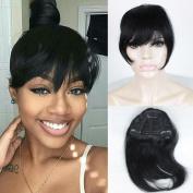 FOND Brazilian Human Hair Clip-in Hair Bang Short Straight Hair Extension for women