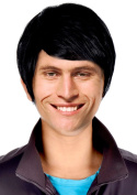 Men's Short Straight Black Hair Wig for Party, Cosplay