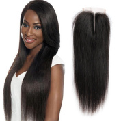 6A Unprocessed Brazilian Straight Virgin Human Hair Lace Closure 10cm x 10cm Top Swiss Lace Free/Middle/3 Ways Part Closures With Baby Hair
