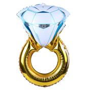 BetterM Diamond Engagement Ring Helium Foil Balloon Party Anniversary Wedding Decoration