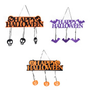 Halloween Nnonwoven Fabric Pendant Home Party Decoration Ornaments Door Decoration 3pcs