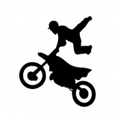 Sport Freestyle Motocross Bike Laptop Wall Vinyl Sticker Decal SUV Truck Car Bumper Motorcycle Decorating For Car Window Glass Truck Bumper Camping Laptop Mac