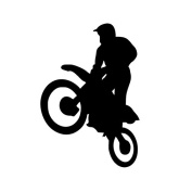 Sport Freestyle Motocross Bike Laptop Wall Vinyl Sticker Decal SUV Truck Car Bumper Motorcycle Decorating For Car Window Glass Truck Bumper Camping Laptop