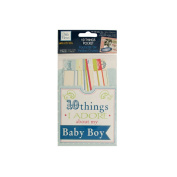 JT Scrapbooking 10 Things I Adore About My Baby Boy Journaling Pocket - 24 Pack