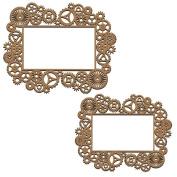 Creative Embellishments Steampunk Gear Frames Laser Cut Chipboard - 2 piece set