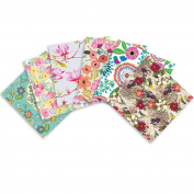 Jillson Roberts 24 Sheet-Count All-Occasion Printed Tissue Paper in Assorted Designs, Fanciful Florals