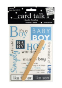 JT Scrapbooking Craft Activity Baby Boy Rub-On Transfers - 24 Pack