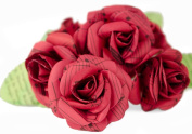 Scrappy Do Large Red Rose Musical Paper Embellishment - Bouquet of 6