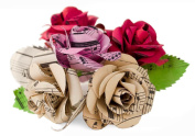 Scrappy Do Extra Large Mixed Floral Rose Musical Paper Embellishment - Bouquet of 6