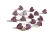 Pink Glitter Heart Scrapbook Brads