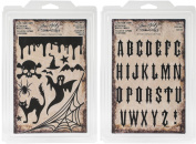 Tim Holtz Idea-Ology Cling Foam Stamps - Halloween & Gothic - 2 item bundle