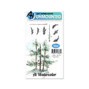 Art Impressions Cling Stamp Set - WC Fir Trees