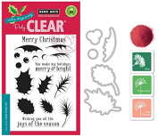 Hero Arts Colour Layering Holly - Stamp, Die, Ink and Embossing Powder Set
