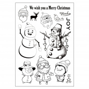 Original Christmas Snowman Clear Stamps For DIY Scrapbooking Decoration Card Making Supplies
