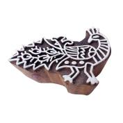 Oriental Peacock Bird Shape Wooden Block for Printing