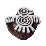 Jaipuri Eagle Bird Shape Wood Print Textile Block
