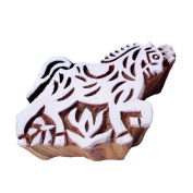 Asian Horse Animal Shape Wood Block Stamp