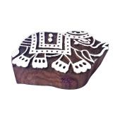 Crafty Elephant Animal Motif Wood Block for Printing