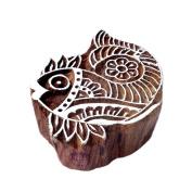 Handmade Fish Aquatic Design Wooden Printing Stamp