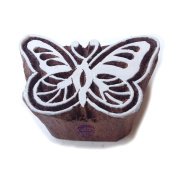 Crafty Butterfly Insect Pattern Wooden Printing Block