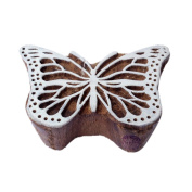 Creative Butterfly Insect Pattern Wood Print Textile Stamp
