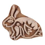 IndianShelf Handmade Set of 1 Piece New Wooden Printing Blocks Textile Fabric Canvas Indian