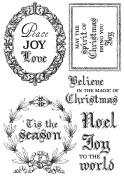 Letters To Santa Clear Stamps 15cm x 10cm -