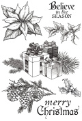 Christmas Edition Clear Stamps 15cm x 10cm -