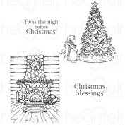 Heartfelt Creations Winter's Eve Cling Rubber Stamp Set - HCPC-3796