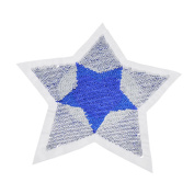 BetterUS Reversible Sequins Five Star love Square Patch Sewing Accessories Sticker Clothes Decor