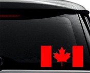 Canada Canadian Flag Maple Leaf Decal Sticker For Use On Laptop, Helmet, Car, Truck, Motorcycle, Windows, Bumper, Wall, and Decor Size- [6 inch] / [15 cm] Wide / Colour- Gloss Black